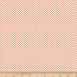 Back Porch Basics Dots Red/Ivory Fabric