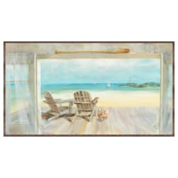 "Coastal Bliss Horizontal Large 24.5"" Panel Multi"