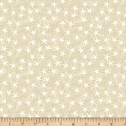 Coastal Bliss Starfish Light Taupe Fabric