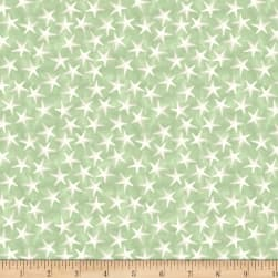Coastal Bliss Starfish Green Fabric