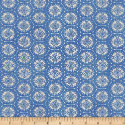 Indi-glow Hexagons Blue Fabric