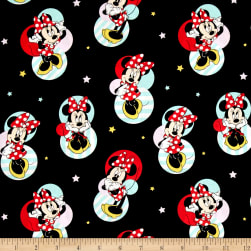 Disney Minnie Traditional Minnie Mouse Badges Black Fabric
