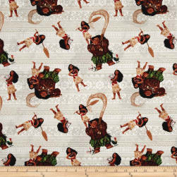 Disney Moana and Friends Gray Fabric
