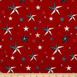 Heritage Large Stars Red Fabric
