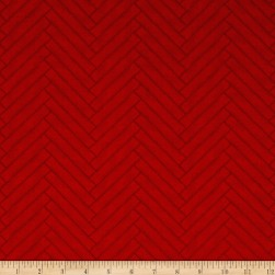 Heritage Herringbone Red