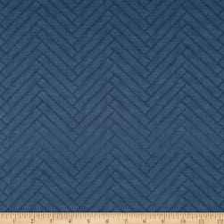 Heritage Herringbone Blue Fabric