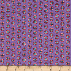 Night Bright Dots Purple Fabric