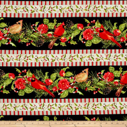 Christmas in the Wildwood Repeating Stripe Multi Fabric