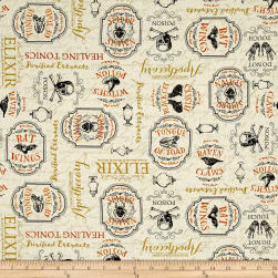Under a Spell Large Labels Tan Fabric