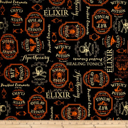 Under a Spell Large Labels Black Fabric