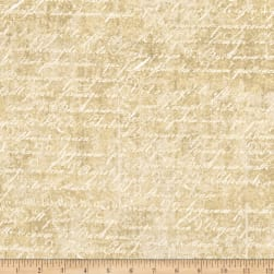 Under a Spell Cursive Texture Tan Fabric
