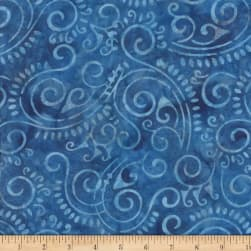 Wilmington Batiks Scroll Blue