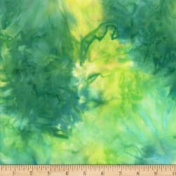 Wilmington Batiks Mottle Green/Yellow Fabric