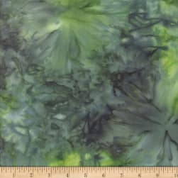Wilmington Batiks Mottle Dark Green Fabric