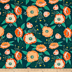 Art Gallery Garden Dreamer Sprinkled Peonies Fresh Fabric