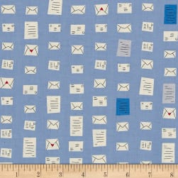 Cotton + Steel S.S. Bluebird Notes Blue Fabric