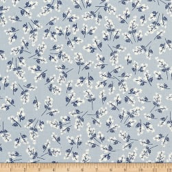Cotton + Steel S.S. Bluebird Bouquet Blue Fabric