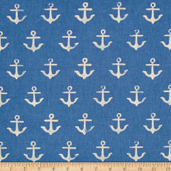 Cotton + Steel S.S. Bluebird Canvas Anchor Blue Fabric