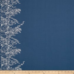 Art Gallery Sage Prickly Pear Indigo Fabric