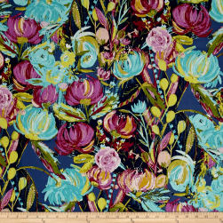 Art Gallery Sage Voile Painted Desert Night Fabric