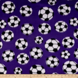 Fleece Soccer Ball Purple Fabric