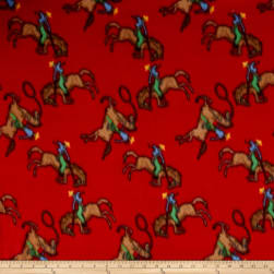Polar Fleece Ride em Cowboy Red Fabric