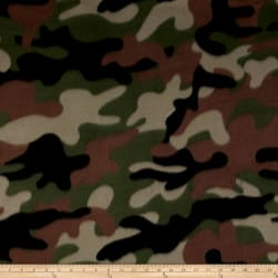 Fleece New Camo Green Fabric