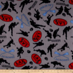Polar Fleece Lacrosse Grey Fabric