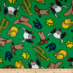 Fleece Gunsmoke Green Fabric