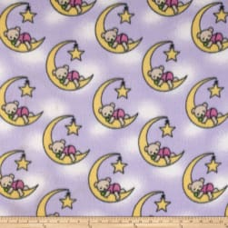 Fleece Dreamybear Lilac Fabric
