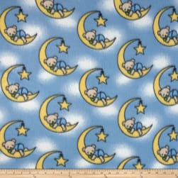 Fleece Dreamybear Blue Fabric
