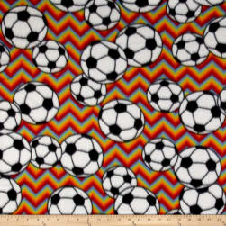 Fleece Chevron Soccer Primary Fabric
