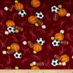 Polar Fleece All Sports Wine Fabric