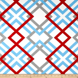 Premier Prints Winston Powder Blue Fabric