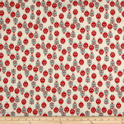 Premier Prints Ladybug Macon Formica Red/Canal Fabric
