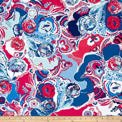 Art Gallery Inblue Interplay Eclectic Fabric