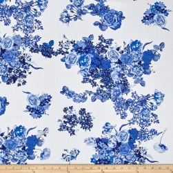 Art Gallery Inblue Bloesem Royal Fabric