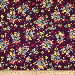 Art Gallery Indie Boheme Blooming Soul Plum Fabric