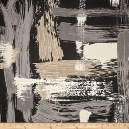 Robert Allen @ Home Sedge Abstract Charcoal Fabric