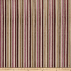 Fabricut Acapella Stripe Jacquard Berry Fabric