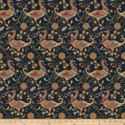 Fabricut Aplomb Twill Peacock Navy Fabric