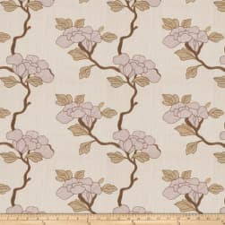 Mount Vernon Asian Floral Linen Blend Lavender Fabric
