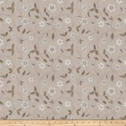 Fabricut Axiom Floral Dove Linen Fabric