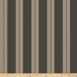 Fabricut Babka Stripe Faux Silk Charcoal Fabric