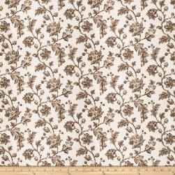 Fabricut Bello Floral Linen Blend Latte Fabric