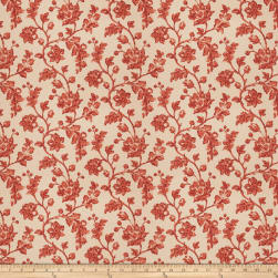 Fabricut Bello Floral Linen Blend Terra Cotta Fabric