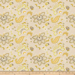 Fabricut Bettino Floral Embroidered Linen Blend Citrus Fabric