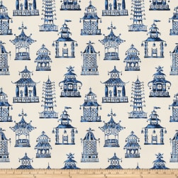 Fabricut Bezique Pagoda Royal Blue Fabric