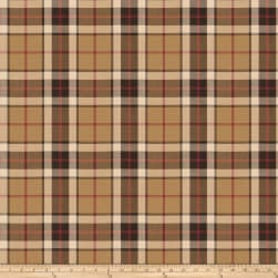 Fabricut Blake Twill Plaid Acorn Fabric