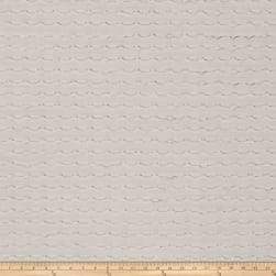 Fabricut Blissful Metallic White Sparkle Faille Fabric